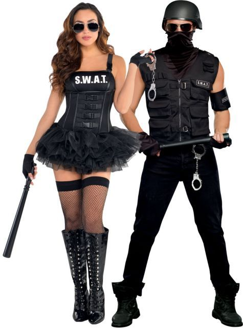 swat couples costumes party city