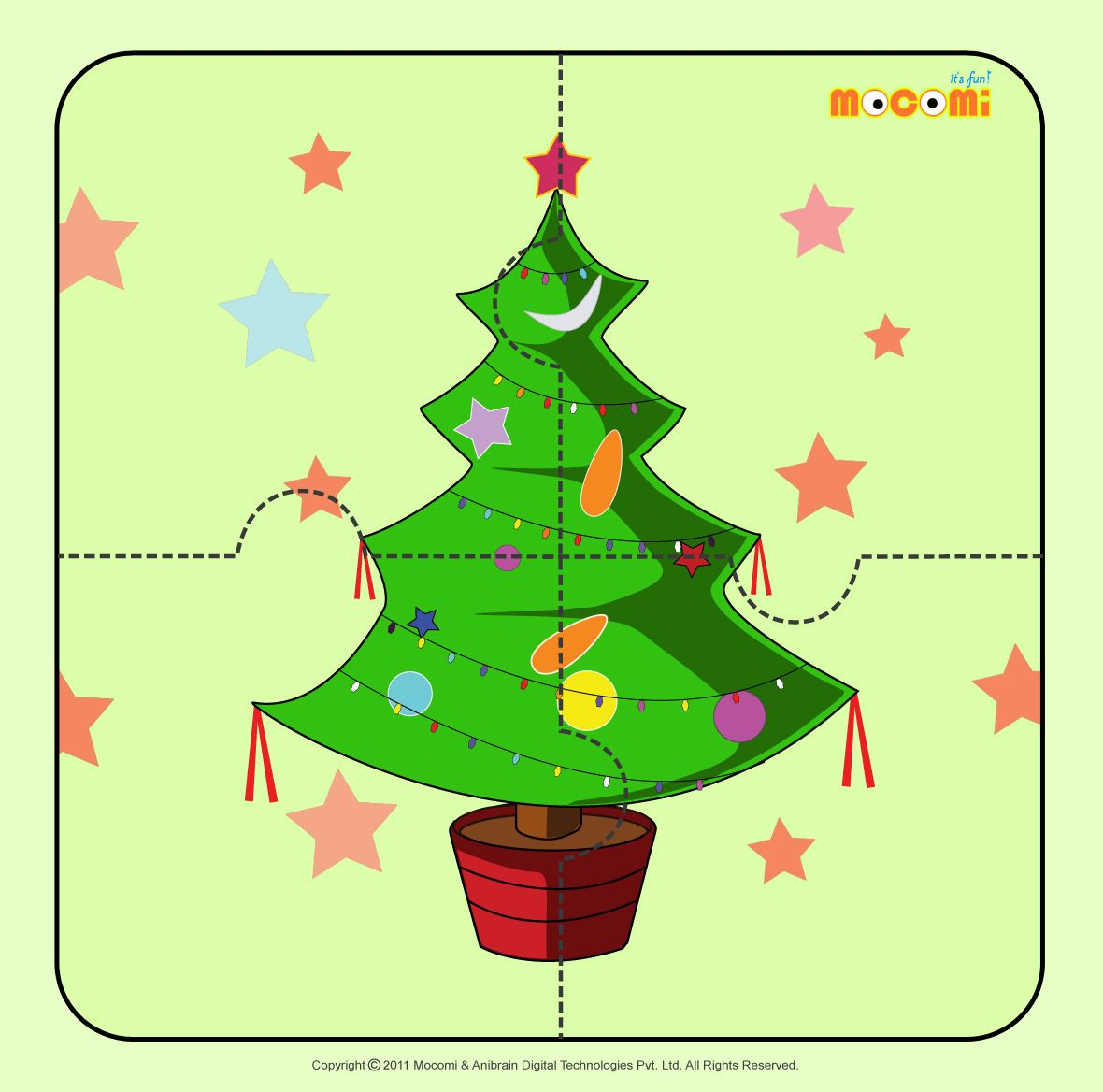 Christmas Tree 2  It's #Christmas time. Download this free puzzle for kids  in