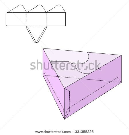 Vector Illustration of New year or Birthday Gift craft Box for ...