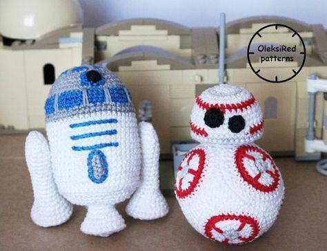 Star Wars CROCHET PATTERNS characters - BB8 and R2D2 (amigurumi ...