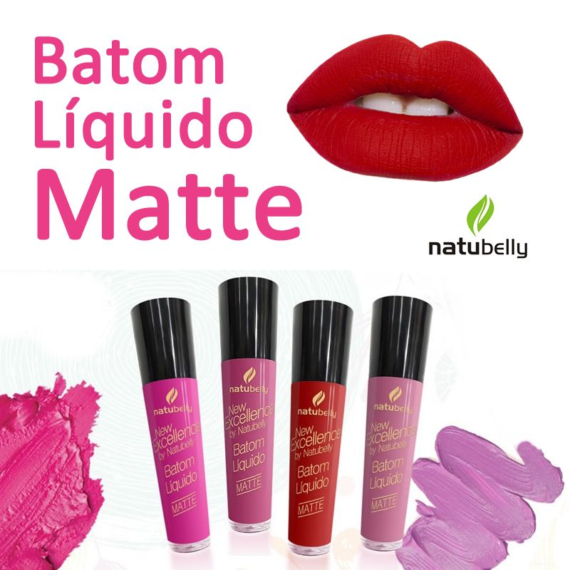 Batom Líquido Matte Natubelly