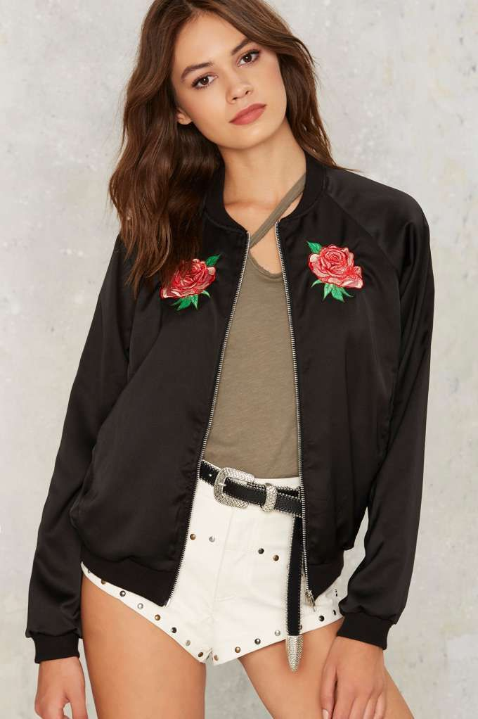 Motel With My Rose Bomber Jacket | Shop Clothes at Nasty Gal ...