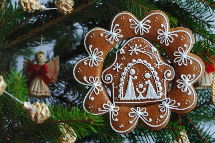 Gingerbread Christmas tree decoration Cookies Pinterest