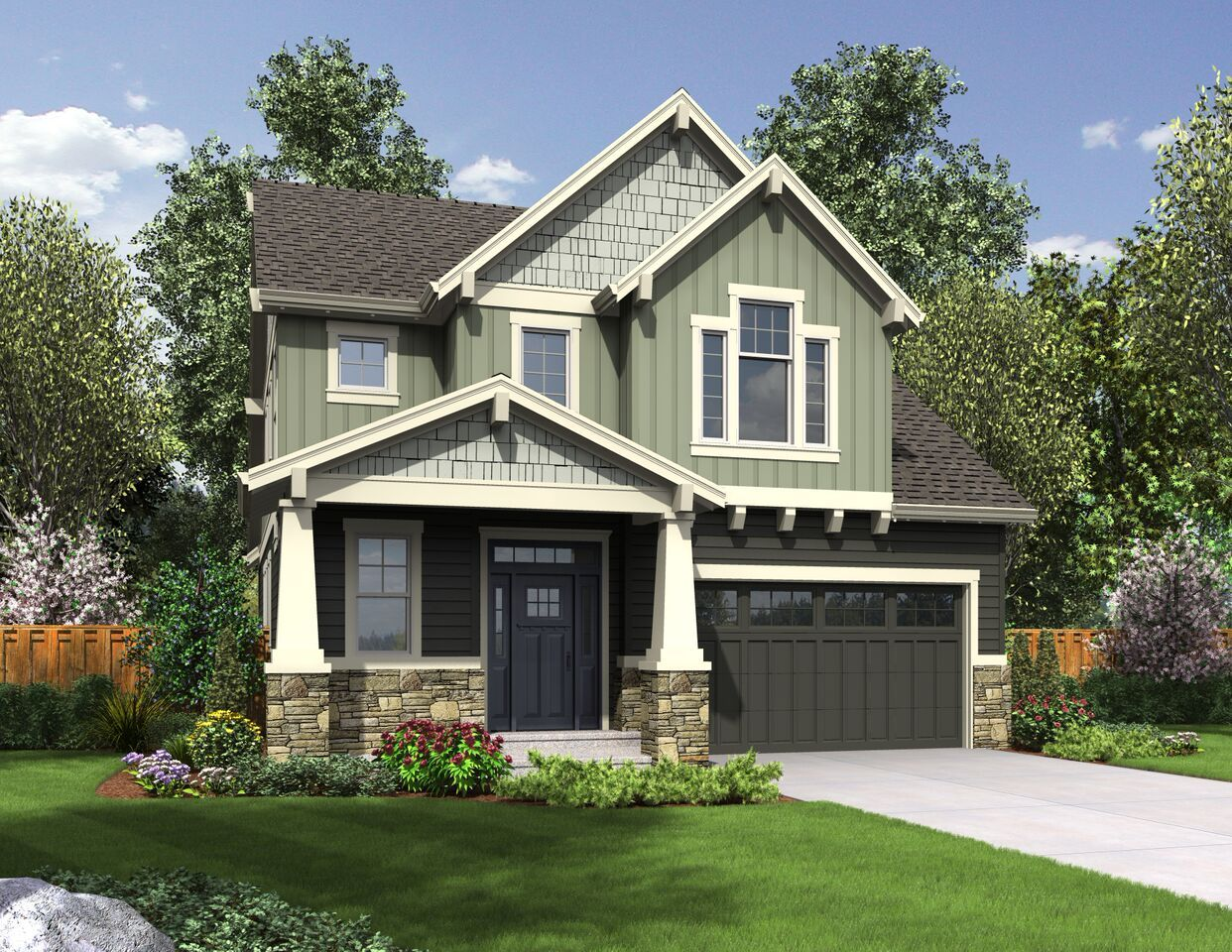Plan 69608AM Master Down Craftsman with Options