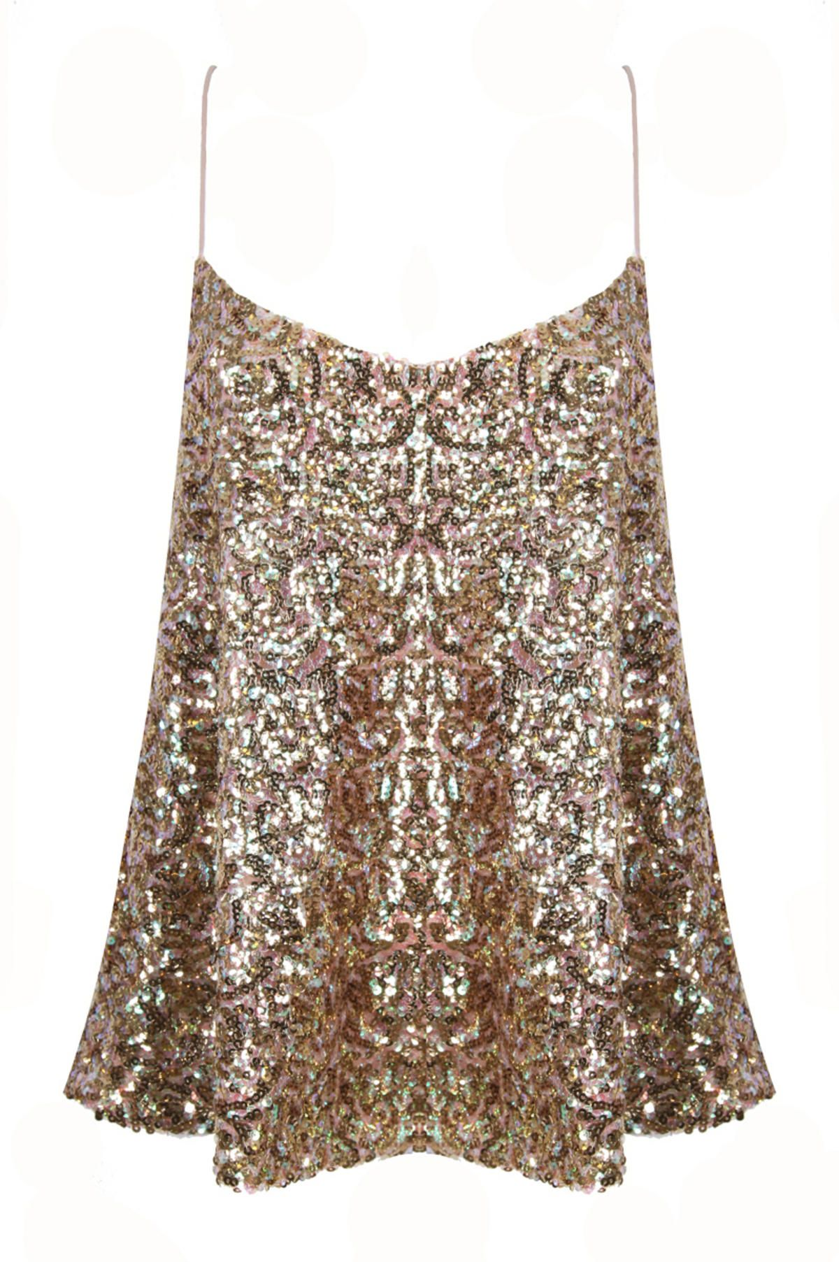 bd201cad7e2e Sequin Cami Top, Gold Sequin Top, Sequin Tank, Gold Sequins, Metallic,