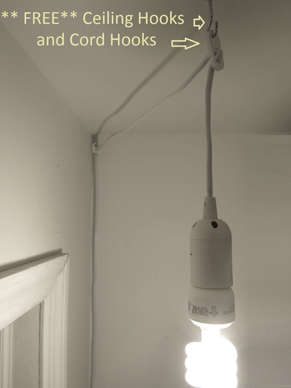 12 Hanging Light Bulb Cord 15 Feet Long Extension And On