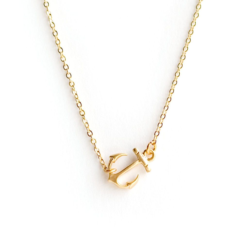 Gold sideways anchor necklace clothing accessorizing pinterest gold sideways anchor necklace aloadofball Gallery