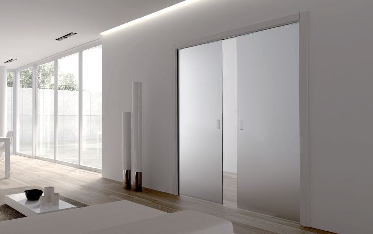 Glass DD   Eclisse Double Glass Pocket Doors. For Further Information  Http://