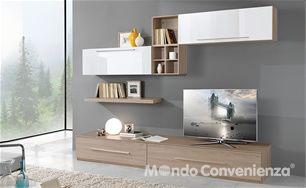 Mobili Per Tv Mondo Convenienza.Soggiorno Gemini Mondo Convenienza Arredamento Parete Salotto