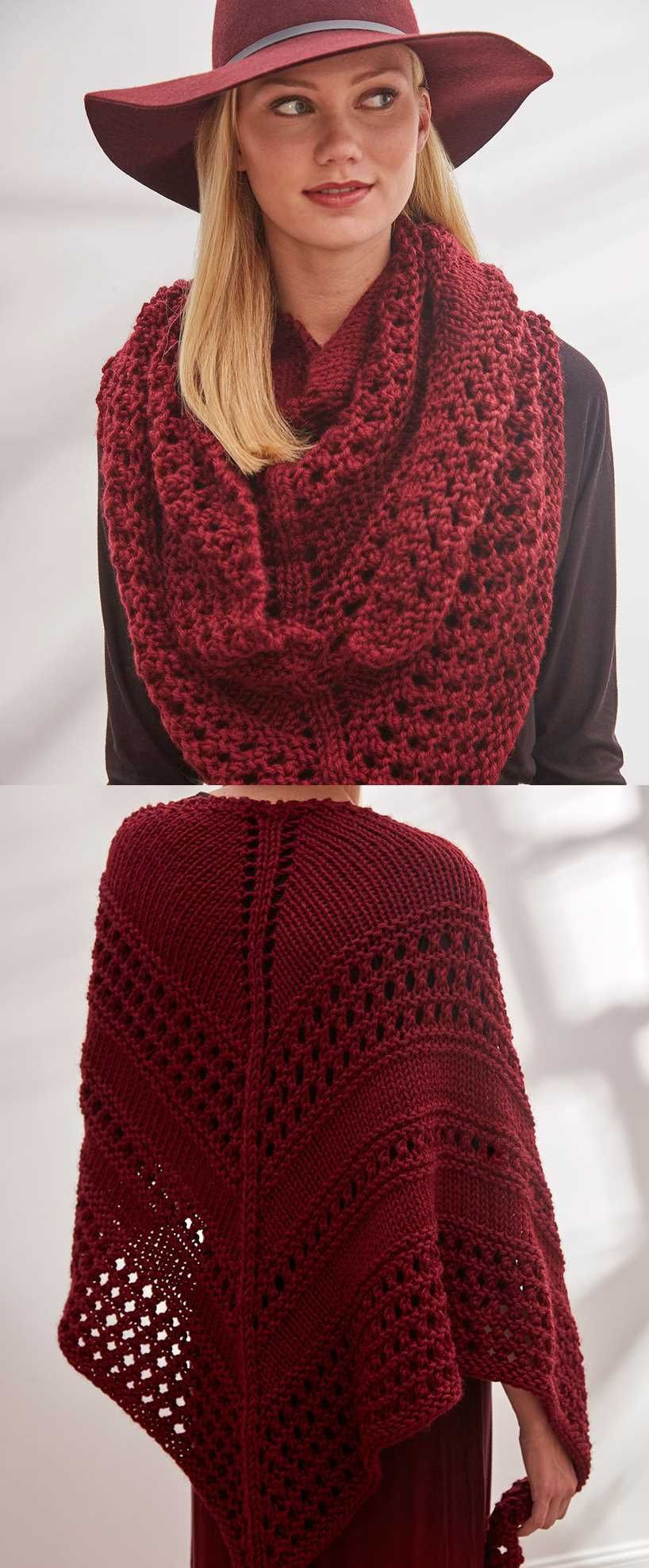 Easy and Free Triangle Shawl Knitting Pattern to Download ...