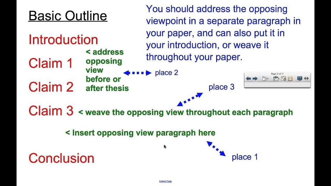 Counterclaim in an essay reflective essay for portfolio examples