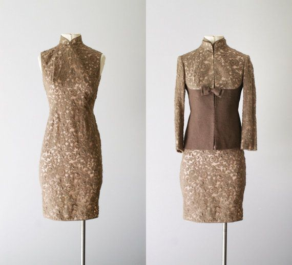 60s dress  / 1960s jacket and dress /  Fallow by VacationVintage, $74.00