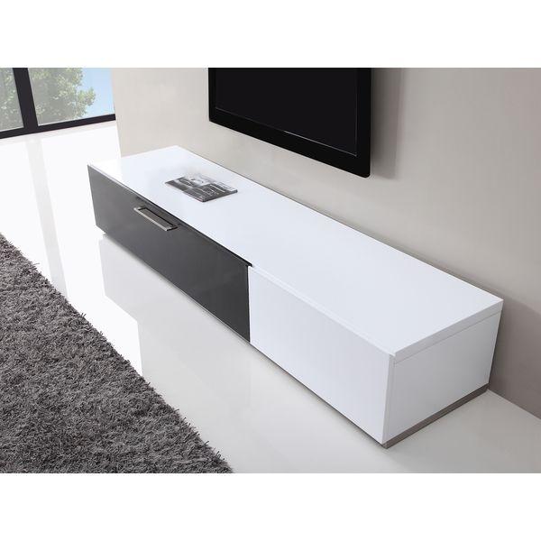 B Modern Producer White Black Tv Stand With Ir Gl 1400