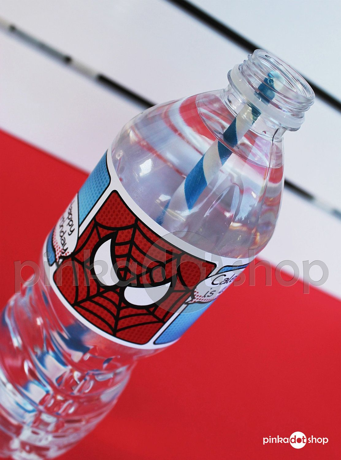 Superhero Collection Spiderman Water Bottle Labels DIY Printable