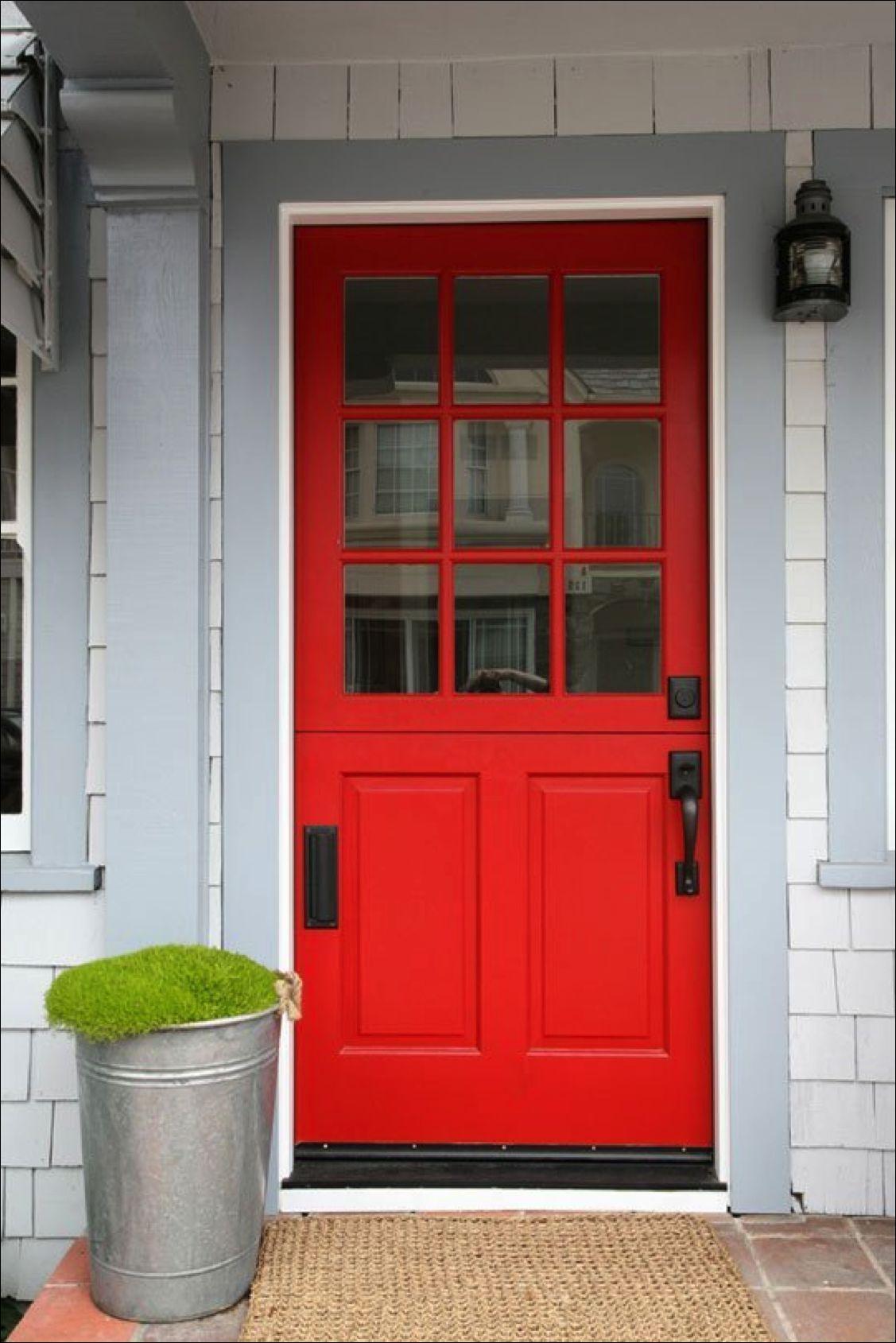 Beautiful Red Exterior Door Contemporary - Amazing House ...