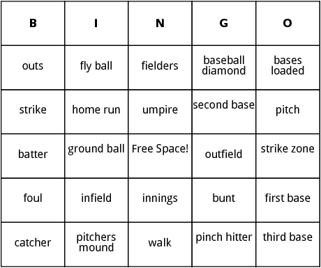 baseball bingo minna s baseball birthday party pinterest bingo