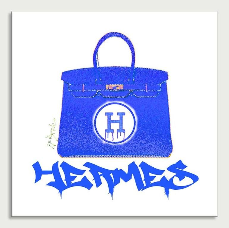 Photo of Original Fashion Printmaking by Dr Eight Love   Pop Art Art on Canvas   Hermes handbags Color 3 – Canvas Limited Edition