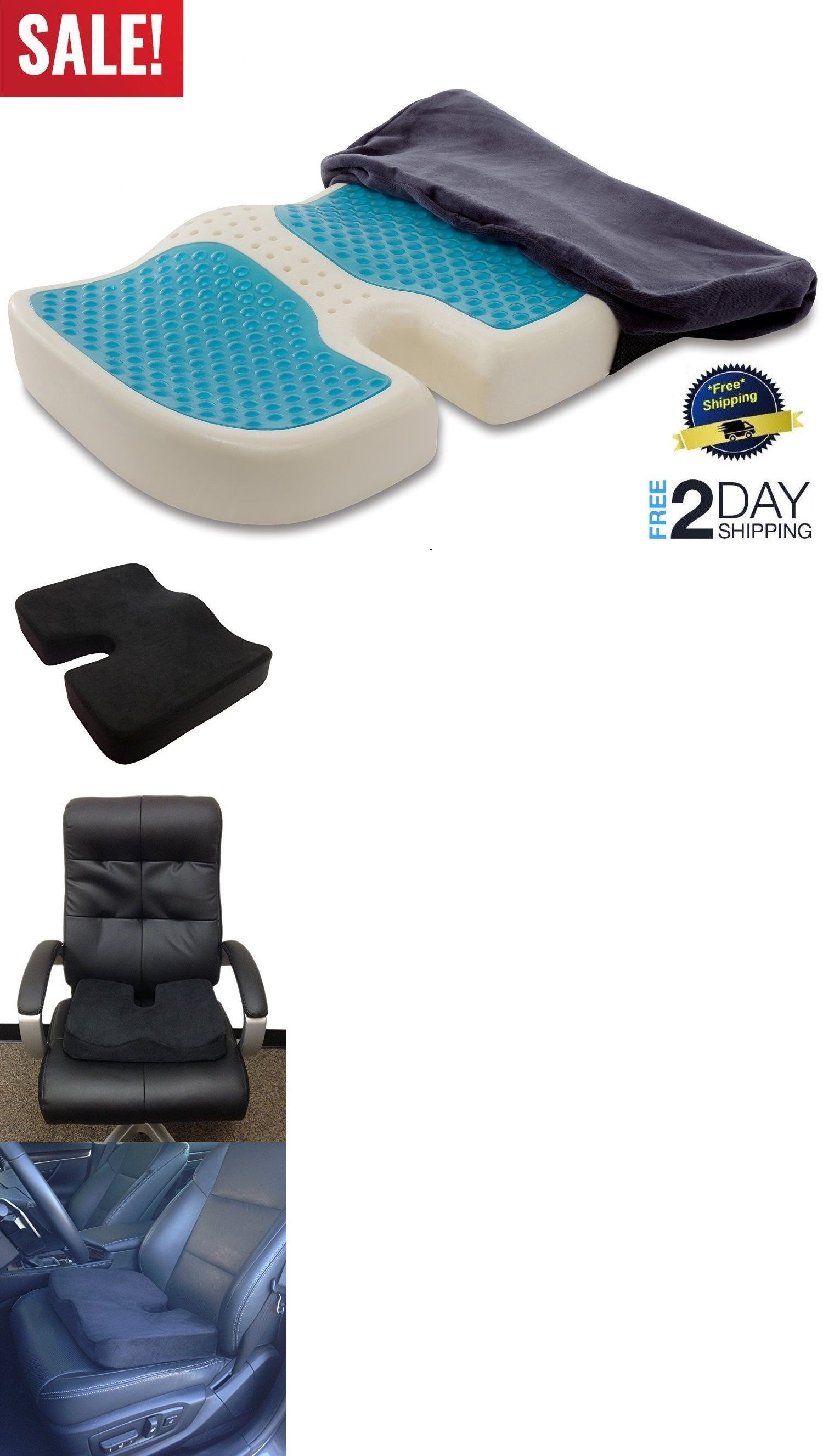 Posture Support Seat Cushion 3 In 1 Chair Coccyx Orthopedic Gel Foam Enhanced Comfort Pad And Cushions 182135 Back Buy It Now Only 24 95 On Ebay