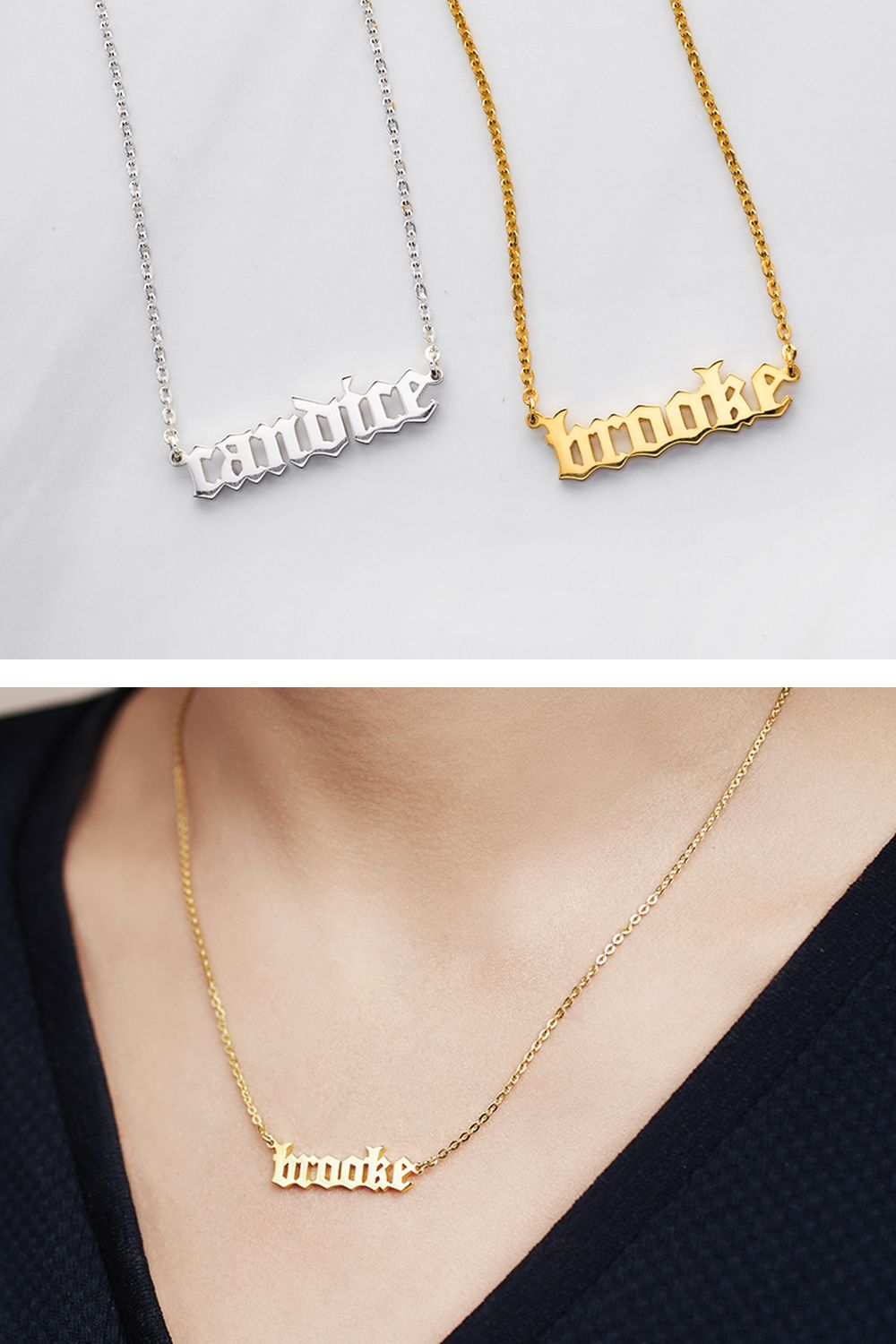 Old English Name Necklace | Gifts | Pinterest | Gifts, Christmas ...