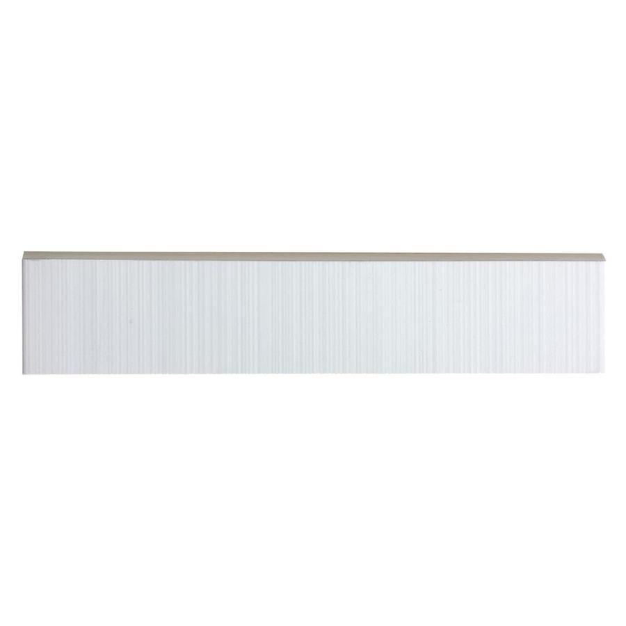 Style Selections Blairlock White Ceramic Bullnose Tile (Common: 2-in ...