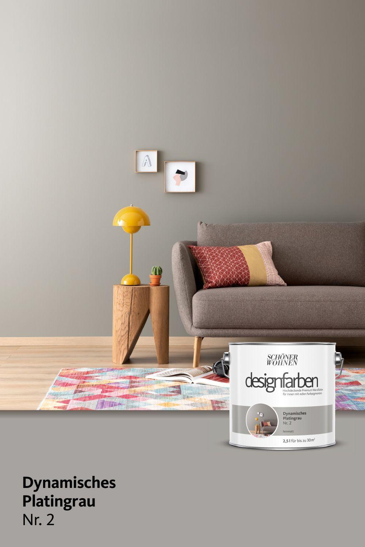 Designfarbe Dynamisches Platingrau Nr 2 Schoner Wohnen Farbe Luxus Schlafzimmer Design Bunte Designs