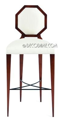 Admirable French Art Deco Style Octagon Back Barstools Matching Dining Onthecornerstone Fun Painted Chair Ideas Images Onthecornerstoneorg