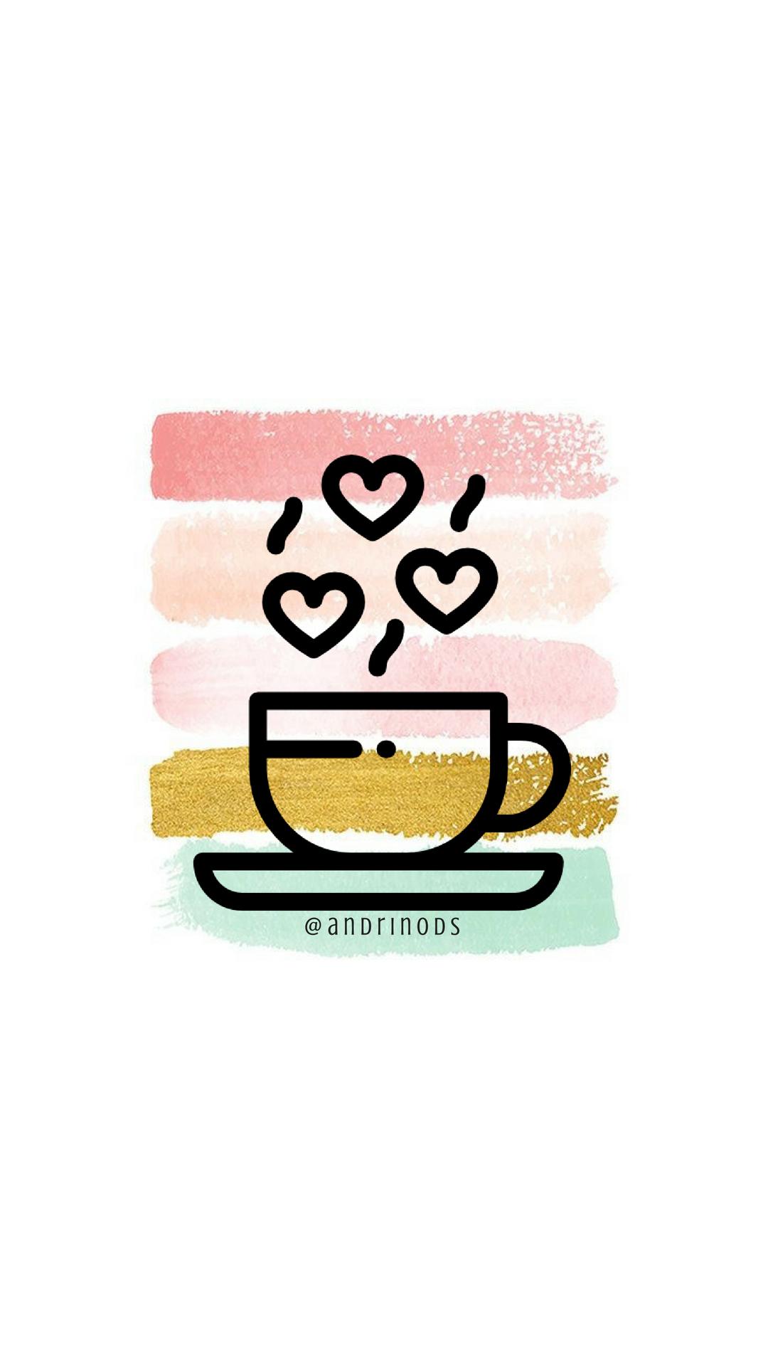 Coffee Historias de instagram, Iconos de instagram