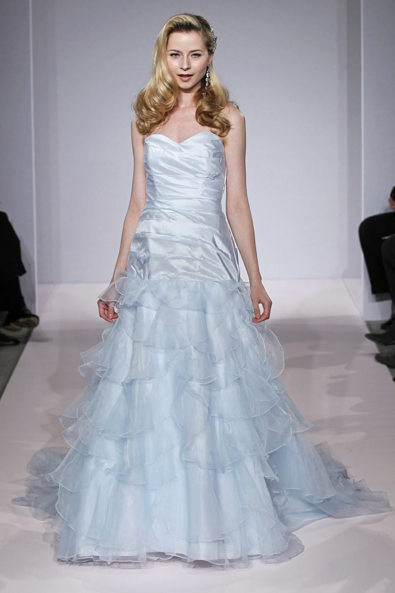 Bridal market trend a touch of color wedding dresses and fashion