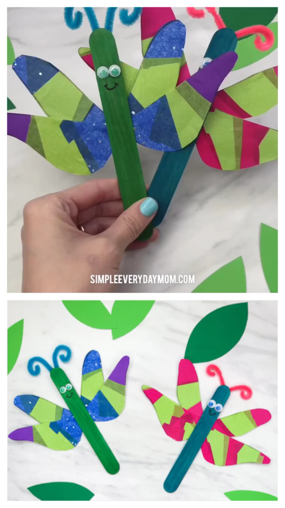 Popsicle Stick Dragonfly Craft For Kids | Spring Crafts For