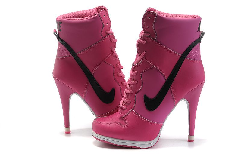 Nike Dunk Heels Hi-Top Heels For Women Pink Dunk SB heels with High top make your leg more sex,those heels will make easier to wear and dance ,cheerleading girl will find out it is really for her feet very comfortable , we can supply US size 5.5 - 8.5 that is EUR 36 - 41, all are perfect new ones . numbers of color for you with wide size ranges , much cheaper than offical website and store .