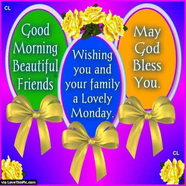 Good Morning Wishing You And Your Family A Lovely Monday Monday Good