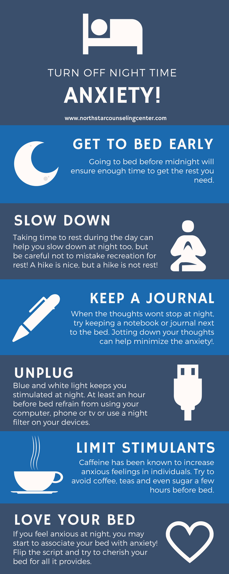tips to help you rest! turn off the night time anxiety!! insomnia