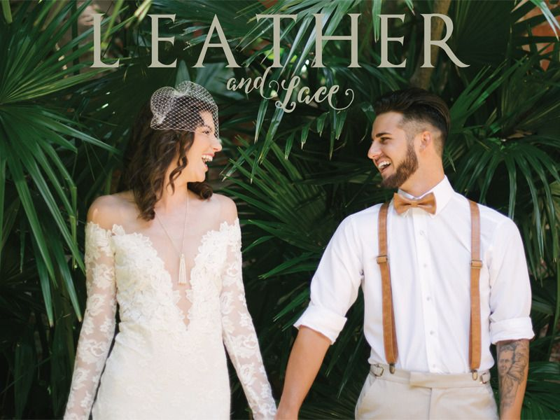 Wedding fashion inspiration from nature. See how we styled these gorgeous looks for the bride and groom.  LEATHER AND LACE :: CONNECTING WITH THE ELEMENTS OF NATURE http://www.neworleansweddingsmagazine.com/leather-and-lace-connecting-with-the-elements-of-nature/  photo: Lauren Carroll Photography