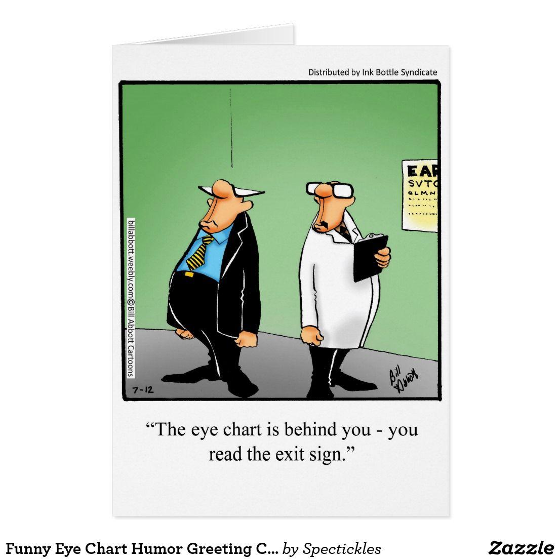 Funny Eye Chart Humor Greeting Card Pinterest Chart Humor And Eye