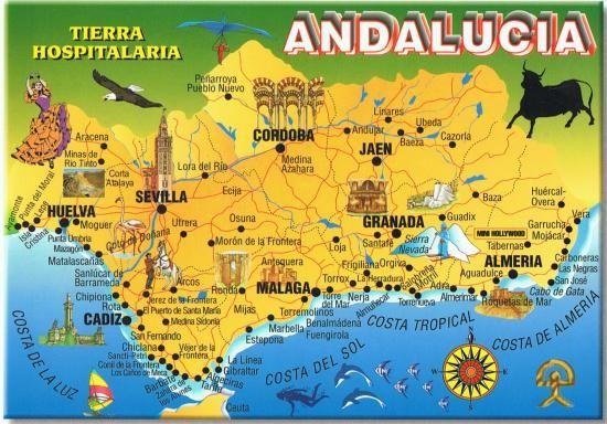 Carte Littoral Andalousie.Sevilla Mapa Turistico Buscar Con Google Mapa De Sevilla