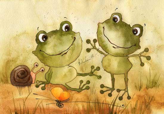 Богородицы, веселая картинка с солнцем и лягушонком