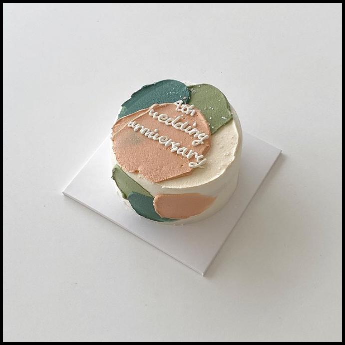 minimalist cake anniversary