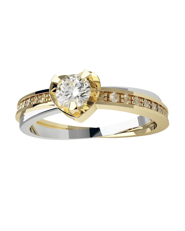 94baafc2e35e p Oro Amarillo y Blanco br   14 K br   10 Pts de Diamante corte ...