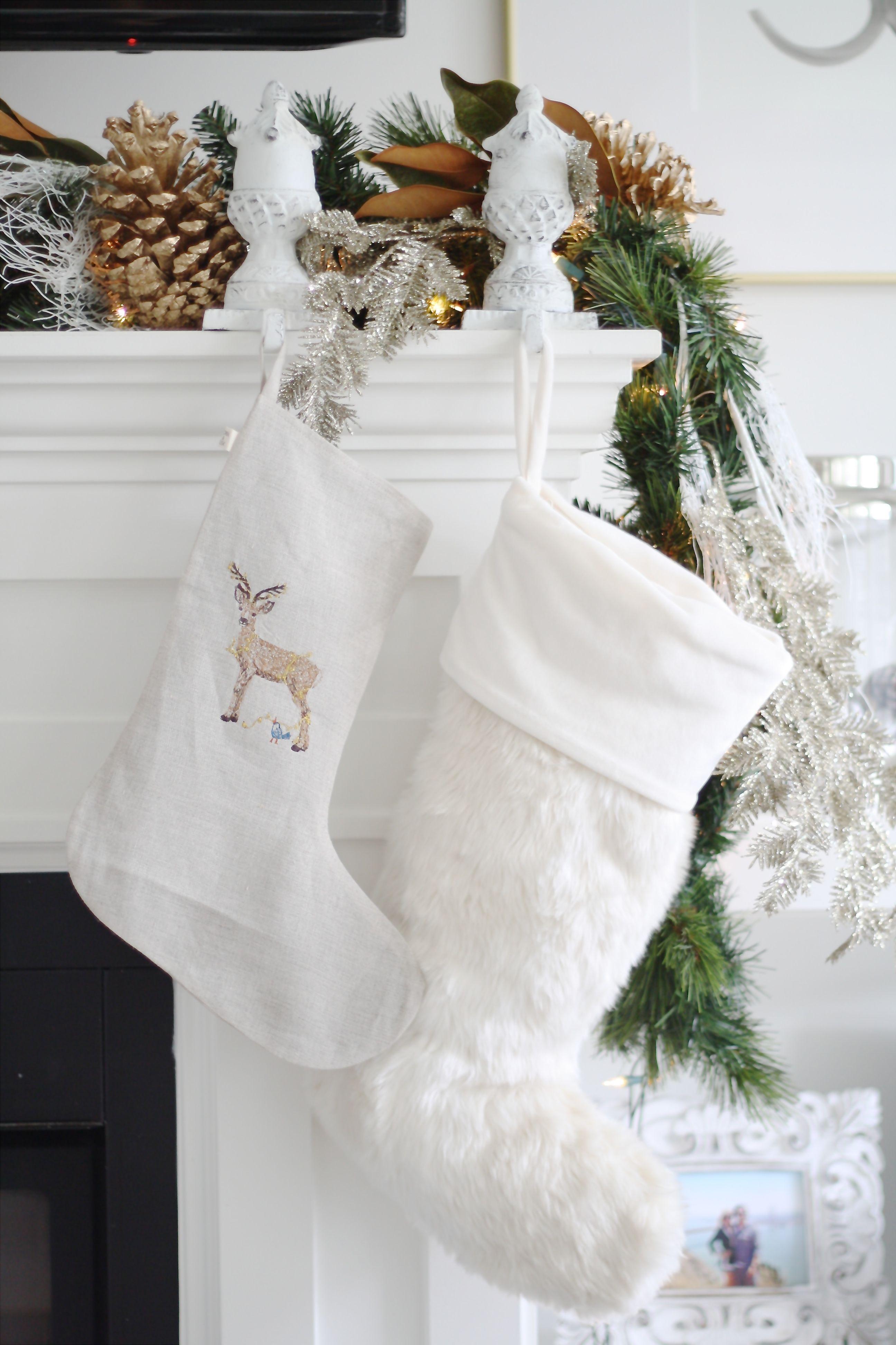 A Hibbs Christmas White Christmas Stockings Christmas Stockings