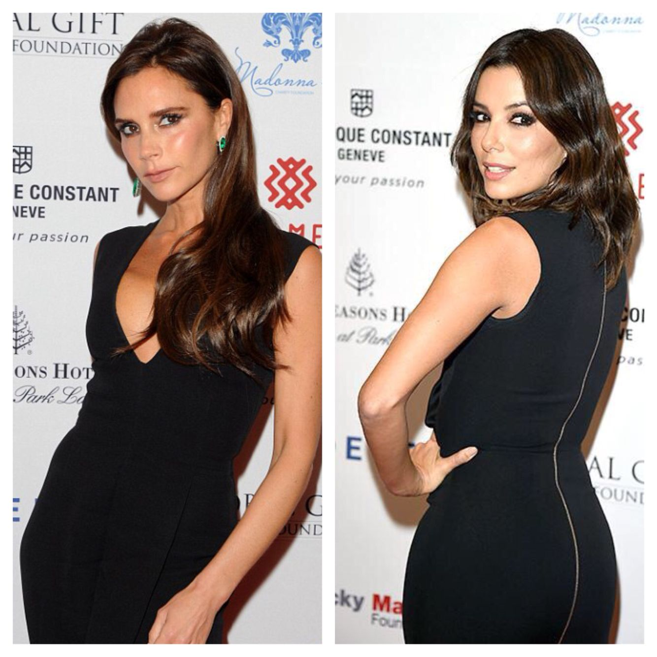 Glamour Girls Victoria Beckham and Eva Longoria hit the red carpet in London!!  Makeup: Sarah Lucero  Hair: Ken Paves