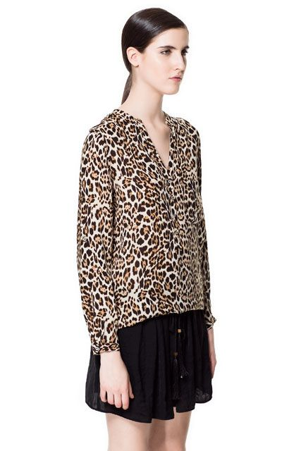 068c0a8b89a9 ANIMAL PRINT BLOUSE from Zara | Style | Leopard blouse, Blouse, Fashion