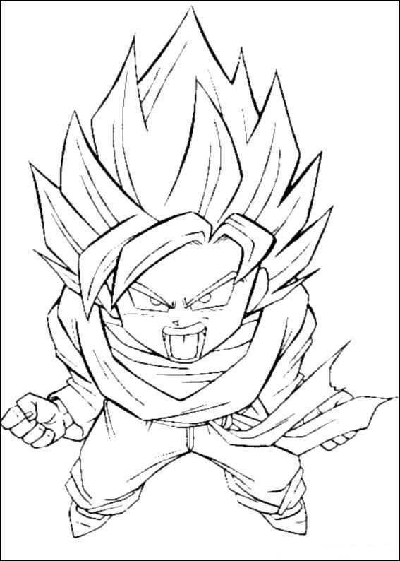 Dragon Ball Z 13 coloring page | kids color pages | Pinterest | Arte
