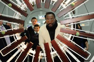 will.i.am in the Science Museum Google Web Labs, launching the new Prince's Trust STEM initiative