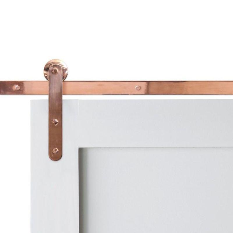 Pinnacle Copper Barn Door Hardware In 2020 Barn Door Hardware Barn Door Sliding Barn Door Hardware