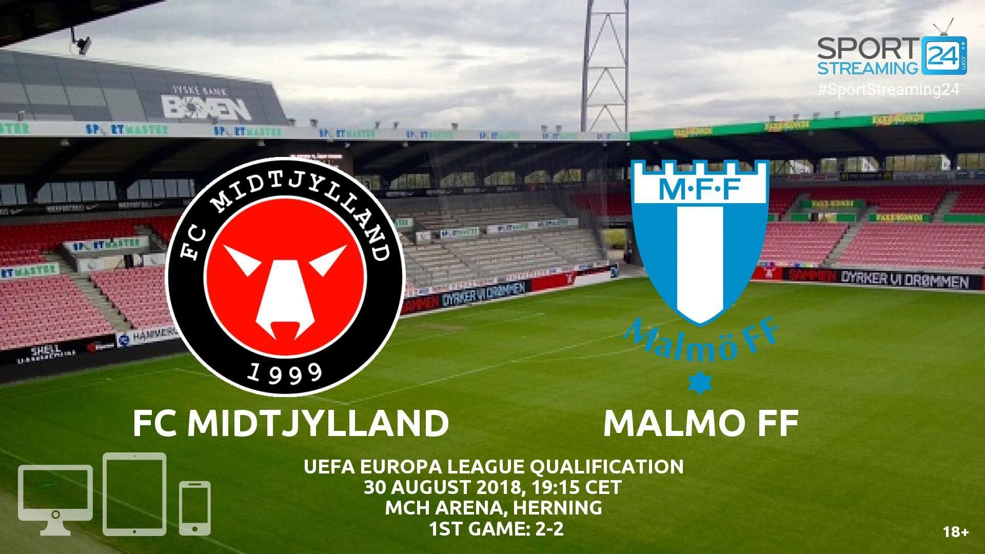 Midtjylland v Malmo FF Live Streaming Football Malmo