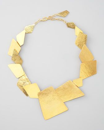 Element Square Necklace by Herve Van Der Straeten .....I love 24 karat gold......yes ...GOLD