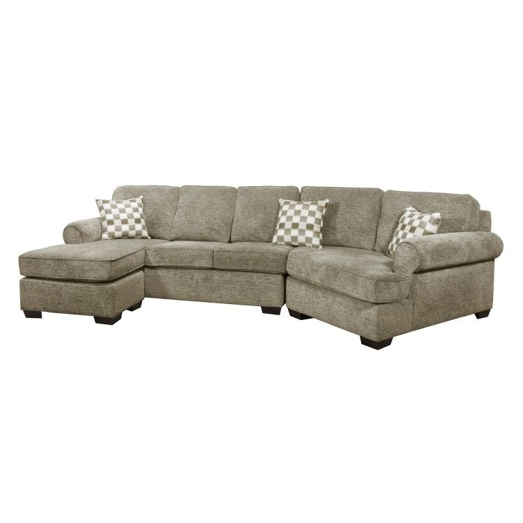 Admirable Sofa By Fancy Alfonso Reva Hazel Grey Sectional With Chaise Lamtechconsult Wood Chair Design Ideas Lamtechconsultcom