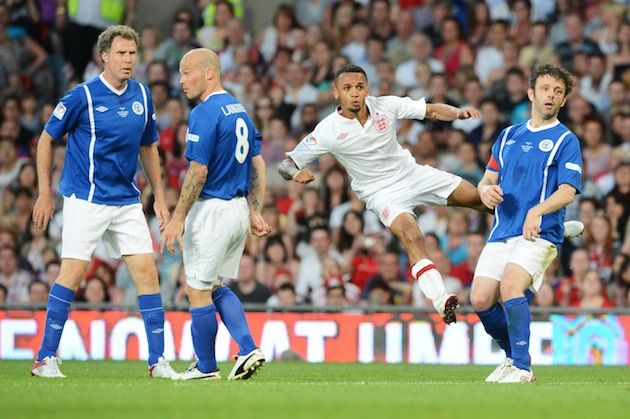 Gordon Ramsay Taken Off On Stretcher After Getting Flattened In Soccer Aid Match Michael Sheen Soccer Aid Aston Merrygold