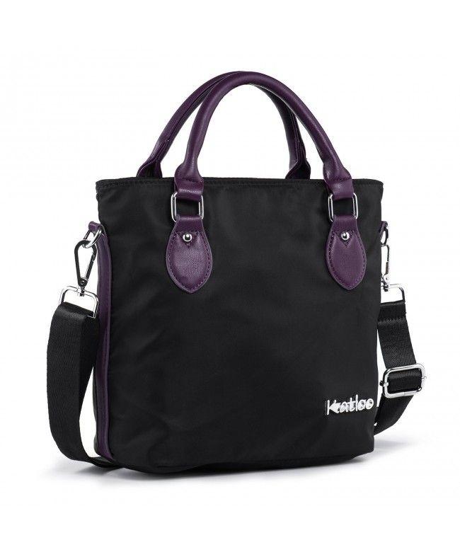Top Handle Bag Small Nylon Handbags for Women Messenger Tote Crossbody Shoulder  Bags Travel Purse - Black - C0187DLNUXI  Bags  Handbags  Totebags  gifts    ... 11e87d37ddf79