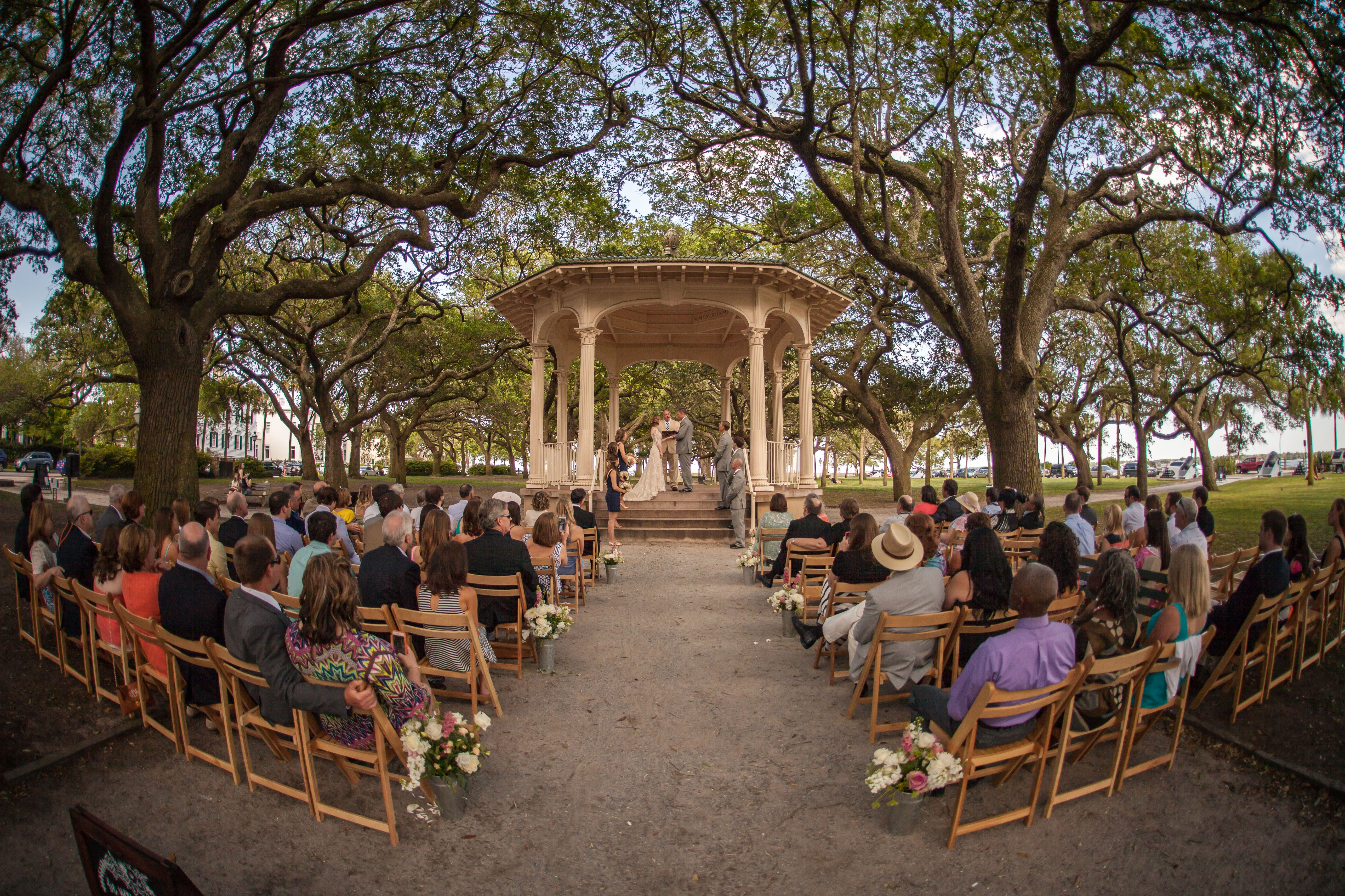 Ceremony location Gazebo at White Point Gardens Charleston, SC | My ...